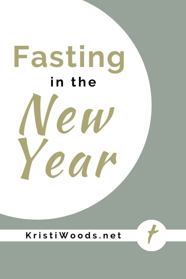 Circle with post title - Fasting in the new Year