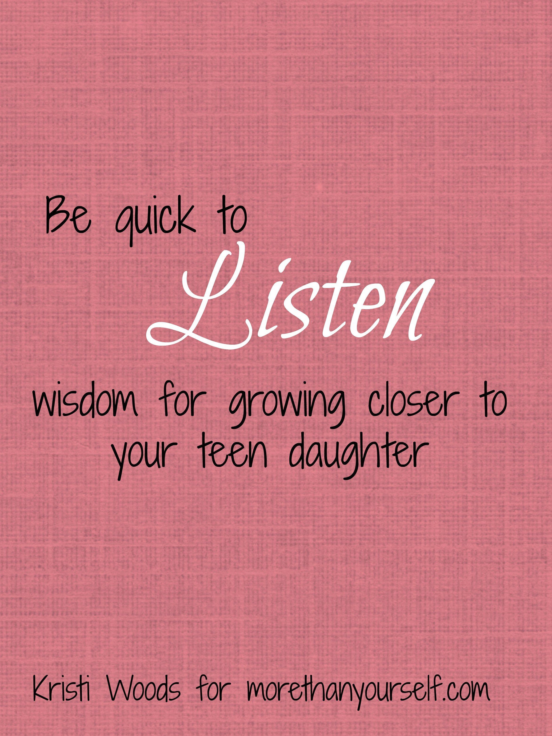 quick to listen