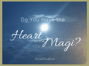 Do You have the Heart of the Magi? Blue background with a star shining