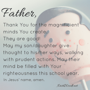 Christian prayer for parents to pray over their children.