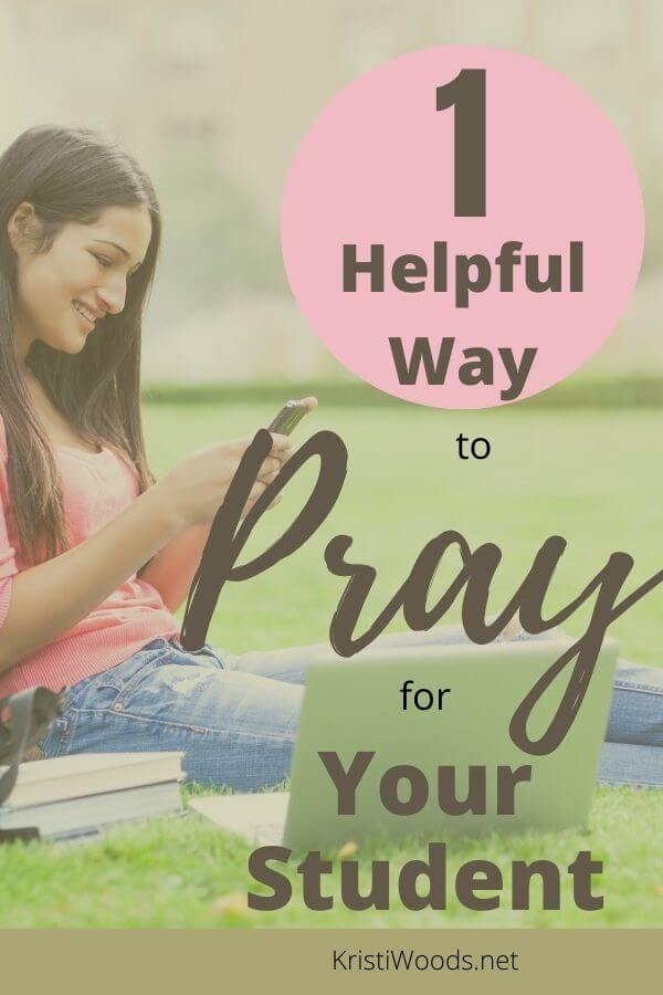 Christian blog post graphic on 1 Helpful Way to Pray for Your Child