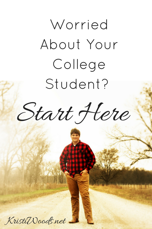 Picture of a young man, a college student, on a dirt road with Christian blog title.
