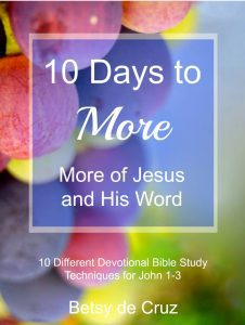 10 Days to More with colorful background