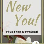 White rose with blog post title New Year, New You on it and announcing free download