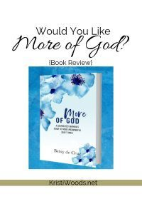 Book Cover of More of God