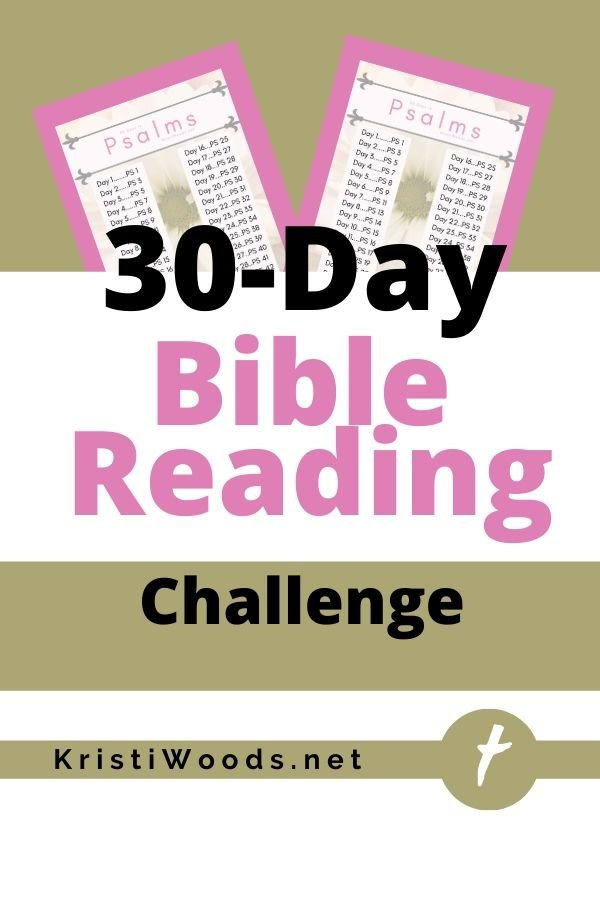 Picture of free 30-day Psalms reading challenge with Christian blog post title