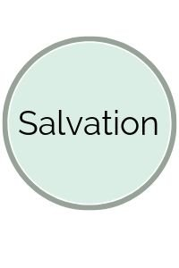 Light Green Circle with Salvation on it