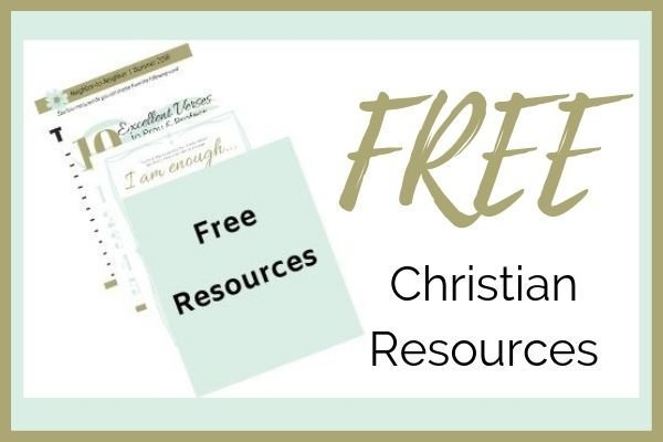 Teal and white with Free Christian Resources