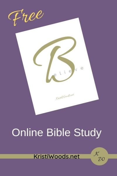 White paper on a purple background to introduce the Online Believe Bible Word Study