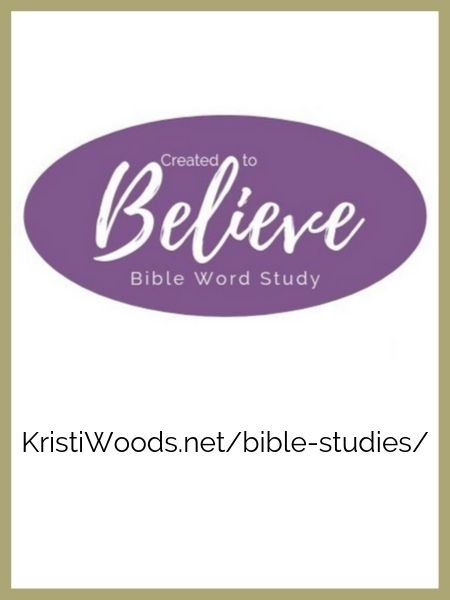 Created to Believe Bible Word Study announcement