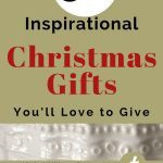 Gold background announcing post title with Christian Christmas gift ideas