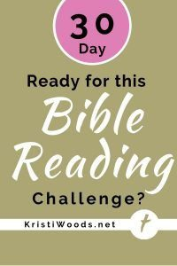 Post title on gold background - Ready for this 30-Day Bible Reading Challenge