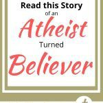 Atheist turned Believer on a gold background