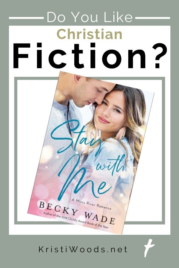 Book cover with man and woman of Stay with Me, a Christian Fiction book by Becky Wade