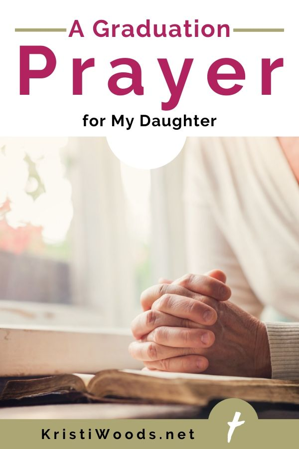 Woman's praying hands with Christian blog post title