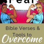 Two women with arms flexed - Christian blog post title for fighting fear