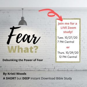 Announcement of Fear What Bible study on fear