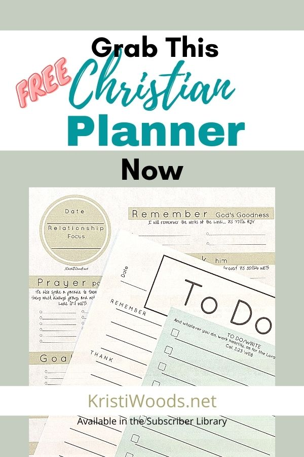 Free Christian Planner Pages