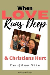 Christian blog post title with a picture of five women
