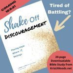 Front page of Shake Off Discouragement Bible Study