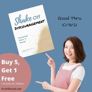 Buy 5, Get 1 + Free Video Access for Shake Off Discouragement Printable Bible Study