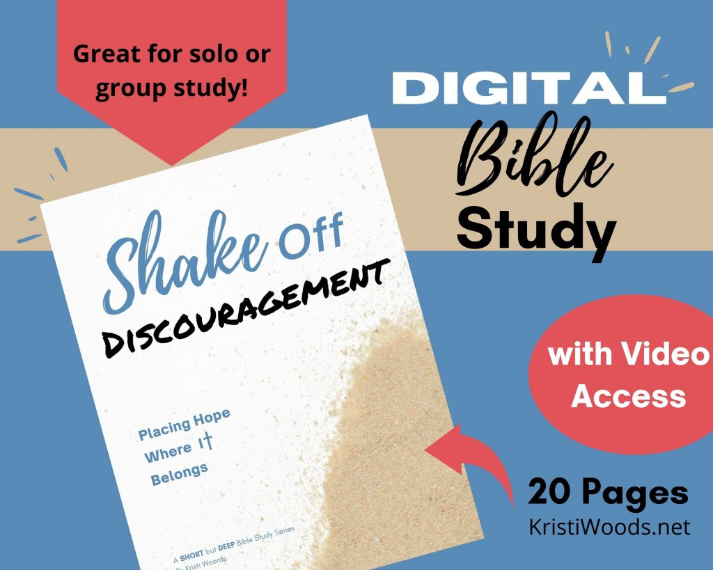 Graphic advertising Shake It Off Digital Bible Study + Bible Study Video Access