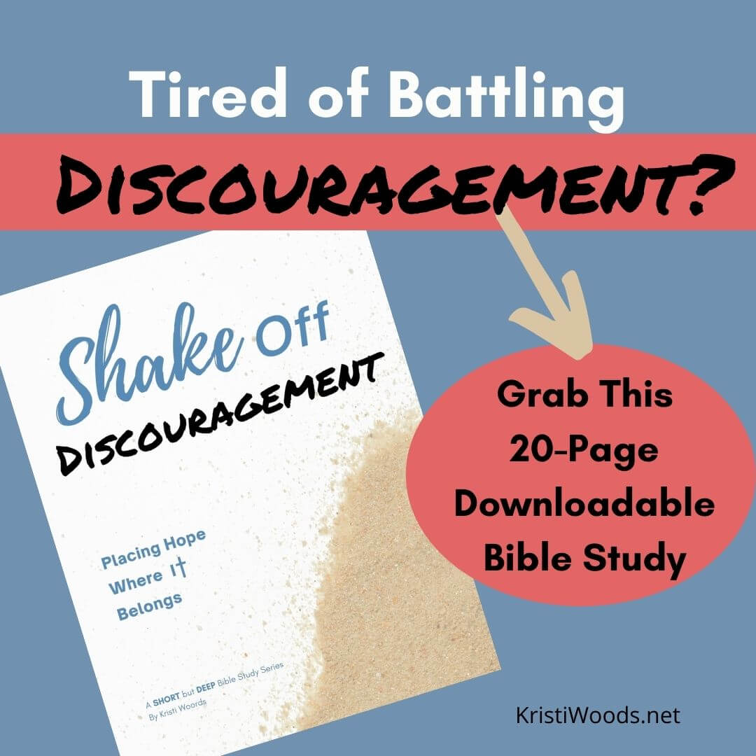 Digital Bible Study cover picturing sand grains for Shake Off Discouragement