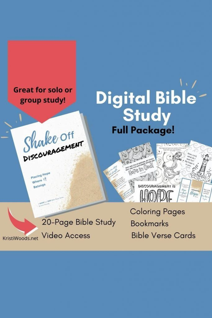 Cover for Shake Off Discouragement Printable Bible study